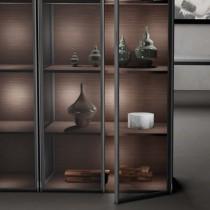 義大利MIXAL GLIX進口鋁框門(咖啡色)